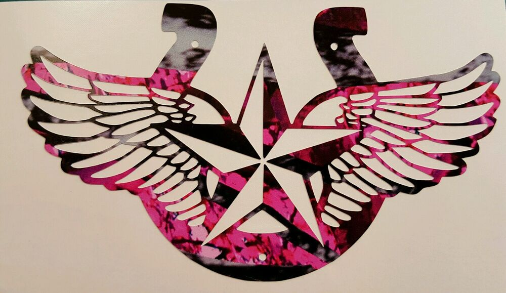 Pink Camo Cowgirl Horseshoe Country Truck Vinyl Decal 5