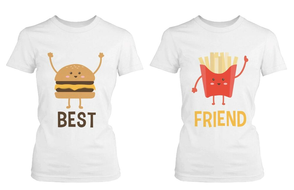 Burger and Fries BFF Shirts Best Friend Matching Tees Cute ...