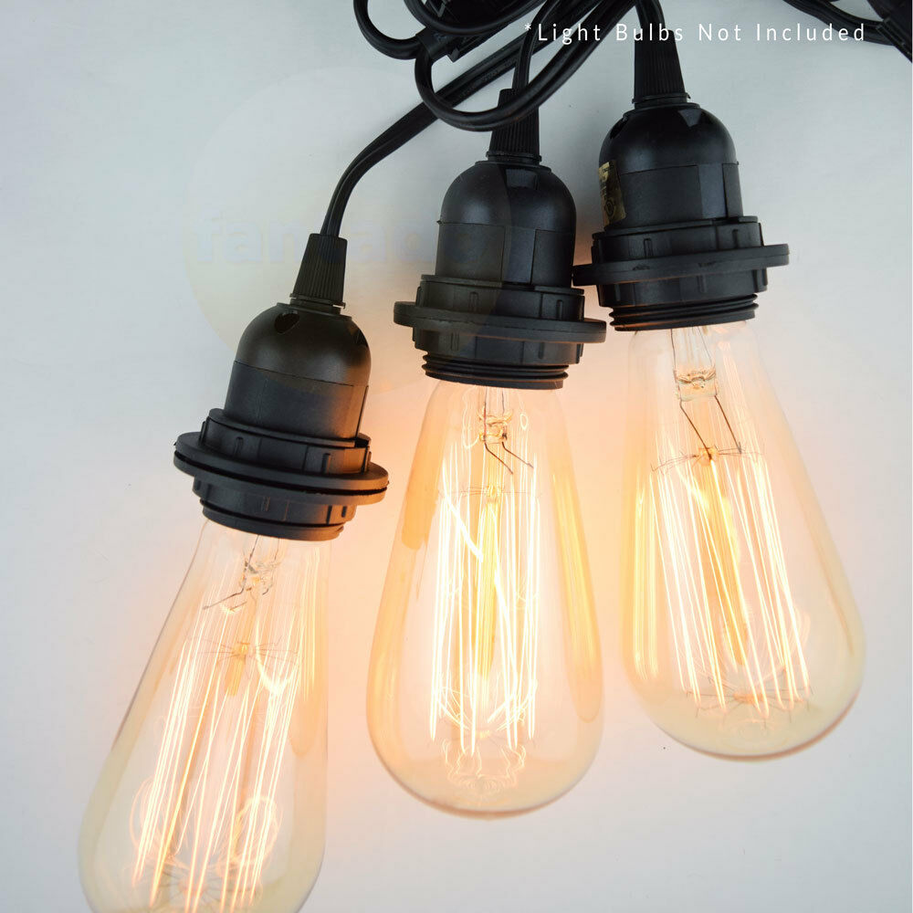 triple socket black pendant light lamp cord for lanterns. Black Bedroom Furniture Sets. Home Design Ideas