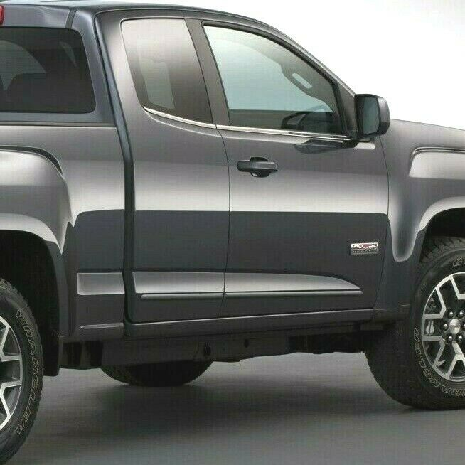 for chevrolet colorado extended cab painted body side moldings 2015 2016 ebay. Black Bedroom Furniture Sets. Home Design Ideas