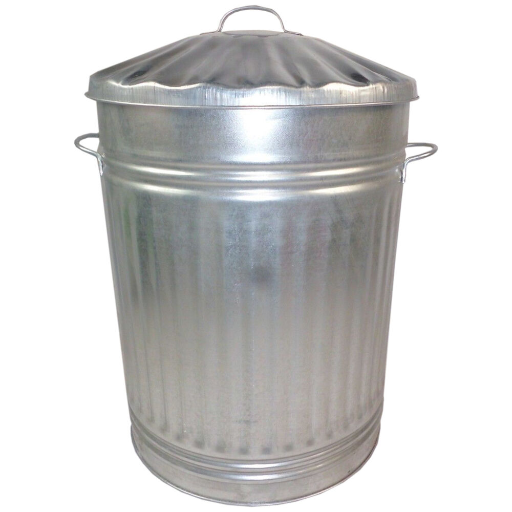 storage metal galvanised bin waste rubbish garden large popular lid 110 litre ebay. Black Bedroom Furniture Sets. Home Design Ideas