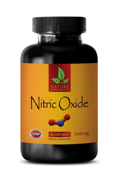 Nitric Oxide 2400mg - L-Arginine Muscle Strength - Sport Supplements 90 Capsules