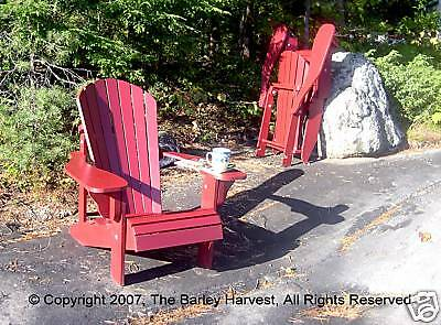 Folding adirondack chair plans full size patterns ebay - Fauteuil de jardin adirondack ...