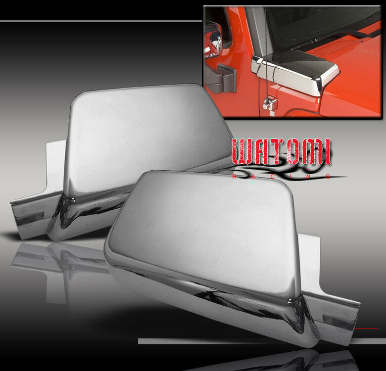 06 10 hummer h3 side air intake hood vents covers chrome. Black Bedroom Furniture Sets. Home Design Ideas
