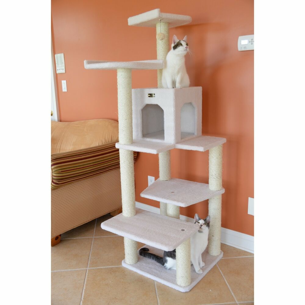 New Cat Tree Gym Furniture Scratcher House Tower Bed Scratching Post Toy Condo Ebay