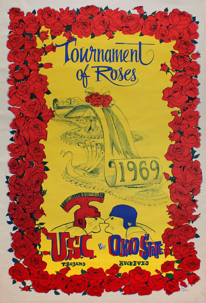 rose bowl posters eBay