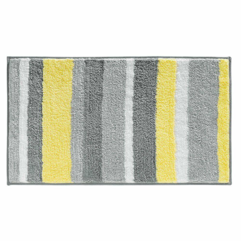 Interdesign stripz microfiber bath rug 21 inch by 34 inch for Bathroom decor rugs