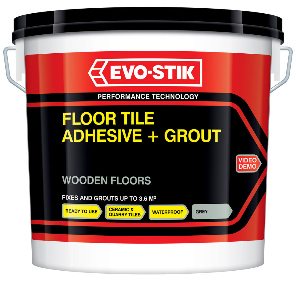 Evo stik wooden wood floor tile adhesive grout ready mixed extra evo stik wooden wood floor tile adhesive grout ready mixed extra large 10l new ebay dailygadgetfo Image collections