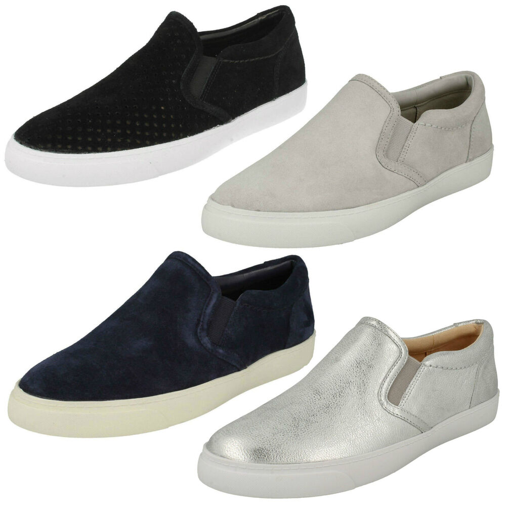 Clarks Ladies Silver Shoes