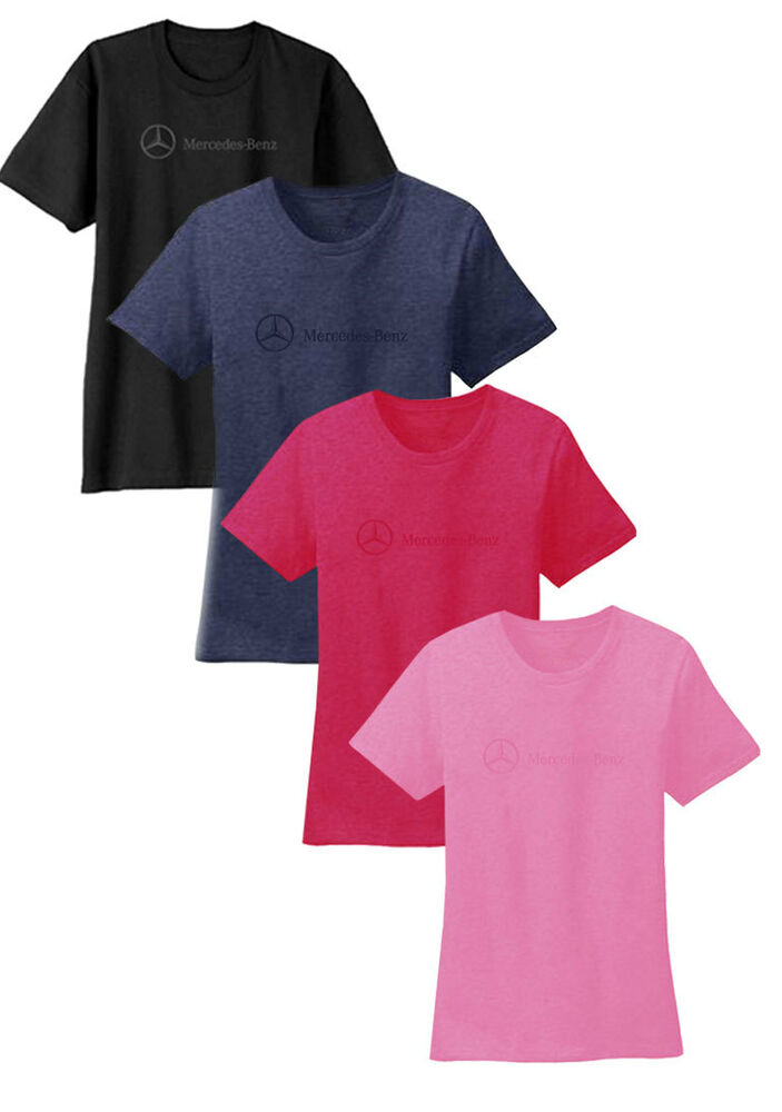 Mercedes benz women 39 s 100 preshrunk ringspun cotton t for Mercedes benz shirts and clothing