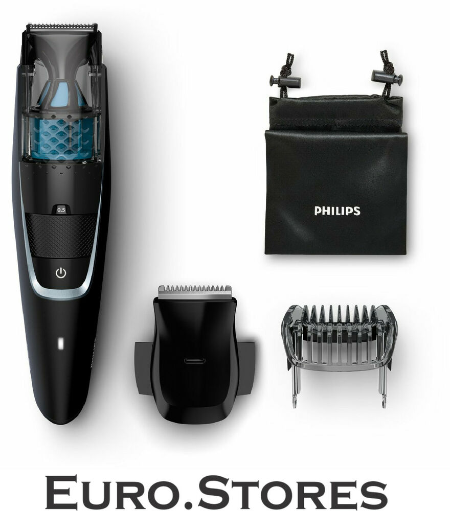 philips bt7205 15 beardtrimmer series 7000 vacuum beard trimmer genuine new ebay. Black Bedroom Furniture Sets. Home Design Ideas