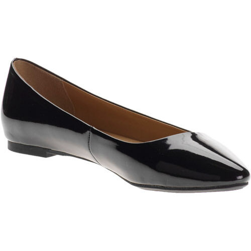 c574fbddb2fe01 Details about City Classified Women Casual Flat Shoes Pointy Toe Shiny  Black Patent SADLER-S