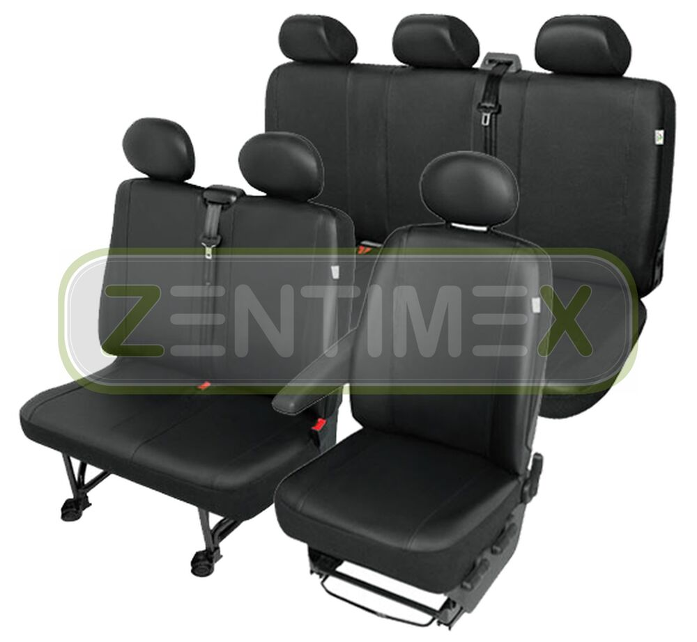 sitzbez ge schonbez ge set qh vw t4 transporter kunstleder. Black Bedroom Furniture Sets. Home Design Ideas