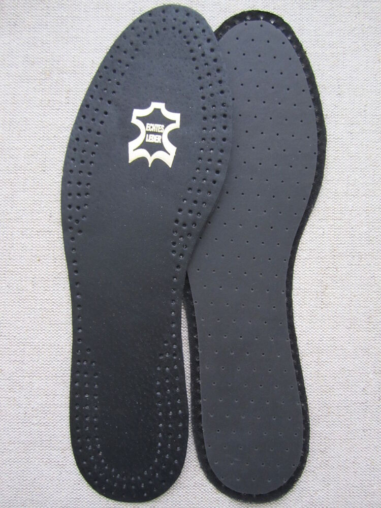 black real leather length shoe insoles ebay