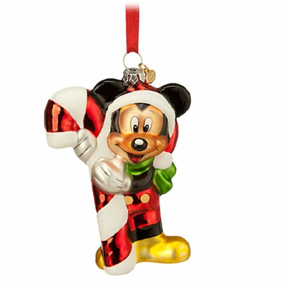 New 2014 disney store glass mickey mouse sketchbook christmas ornament ebay - Disney store mickey mouse ...