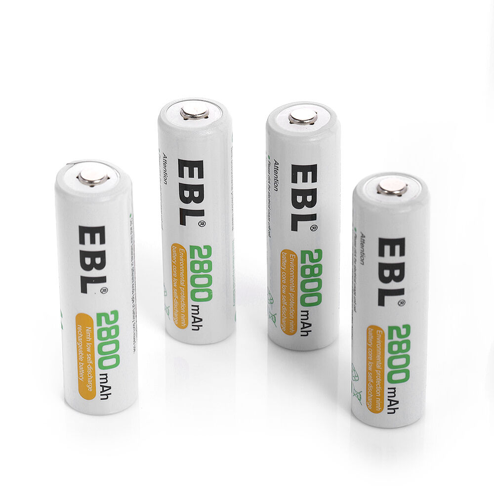 ebl 4 pack 2800mah aa nimh rechargeable battery storage case cover ebay. Black Bedroom Furniture Sets. Home Design Ideas