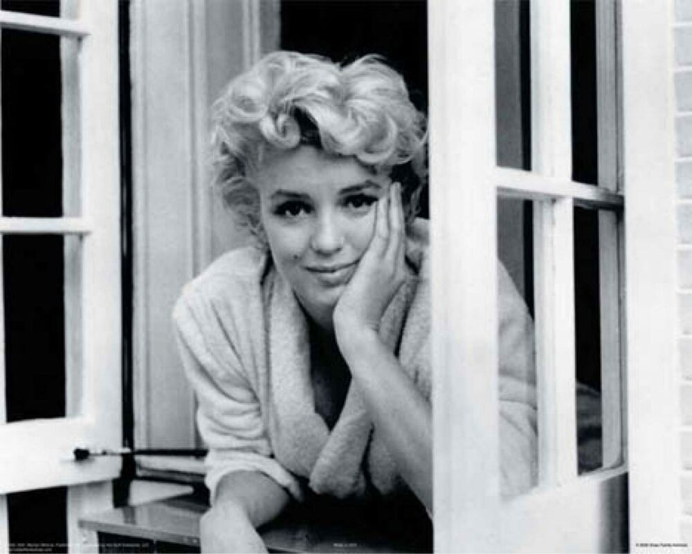 marilyn monroe window poster 16x20 rare ebay. Black Bedroom Furniture Sets. Home Design Ideas