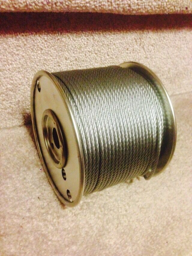 Metal Wire Spools : Quot stainless steel wire rope cable ft spool ebay
