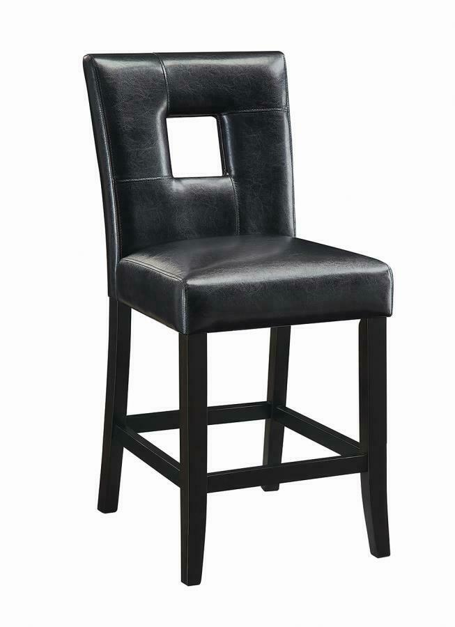 Newbridge Black Vinyl Counter Height Stool Chair By