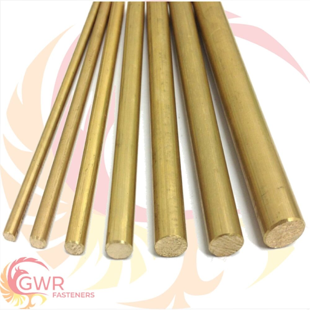 brass round bar rod cz121 4mm 5mm 6mm 7mm 8mm 10mm 12mm. Black Bedroom Furniture Sets. Home Design Ideas