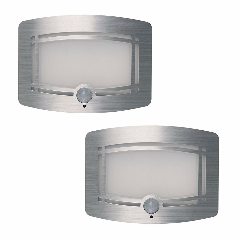 2pcs led wireless light operated motion sensor battery power sconce wall light ebay - Battery operated wall light sconces ...