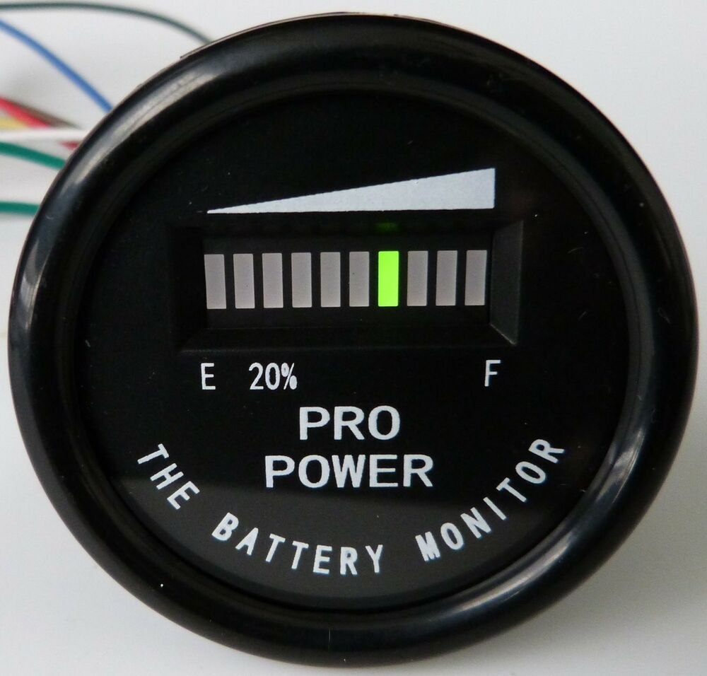 PRO1248M     Golf Cart Battery Indicator EZGO Yamaha ClubCar    12     24  36  48 VDC   eBay