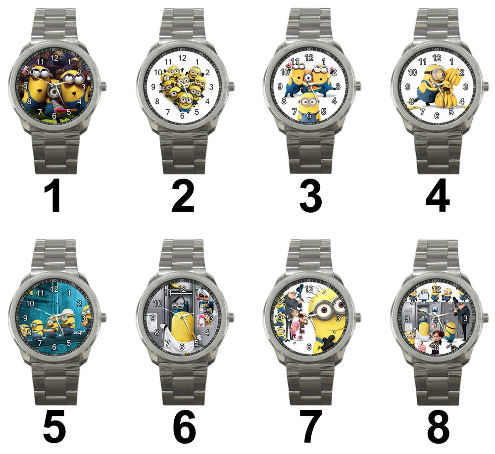 Minions despicable me 3d animation cartoon movie unisex steel analog wrist watch ebay for Despicable watches