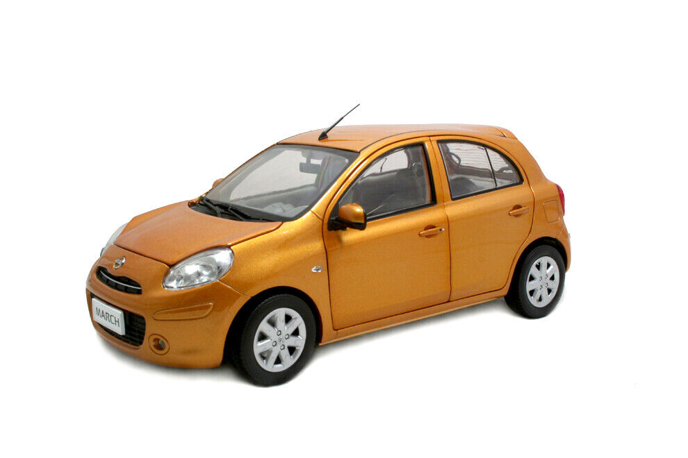 big sale 1 18 scale nissan march micra 2010 orange diecast model car ebay. Black Bedroom Furniture Sets. Home Design Ideas