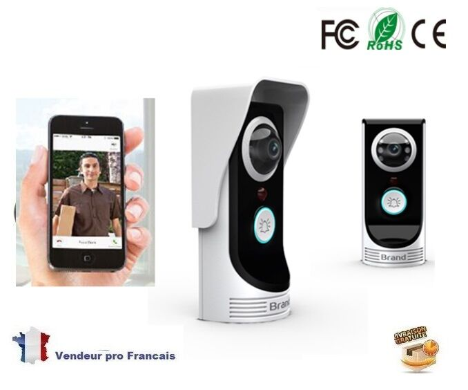 interphone visiophone portier wifi cam ra smartphone tablette android iphone ebay. Black Bedroom Furniture Sets. Home Design Ideas