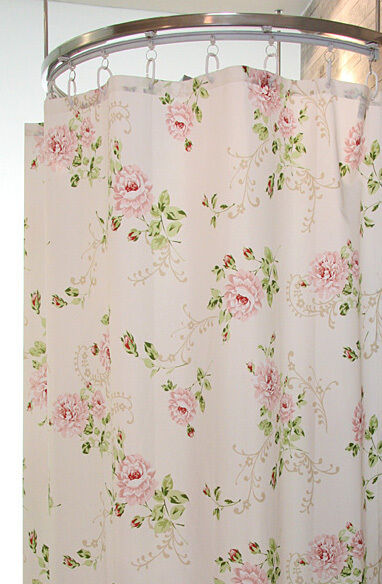 French Door Panel Curtains Flowers Shower Curtain