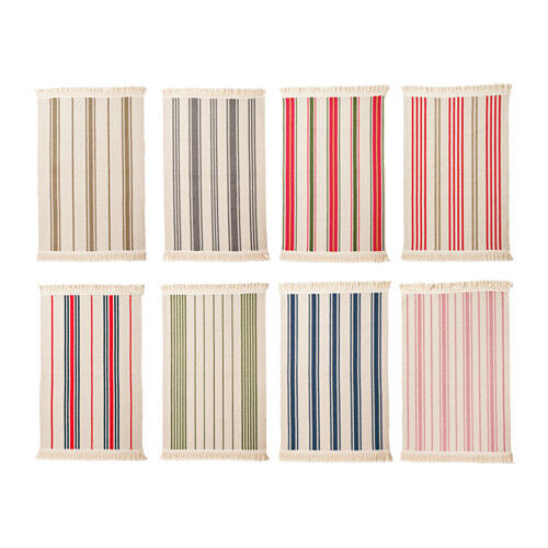 Ikea Signe Flatwoven Area Kitchen Rug Striped Entry