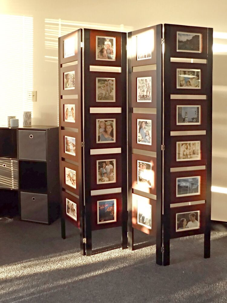 Oscar picture folding screen room divider standing photo - Room divider picture frames ...