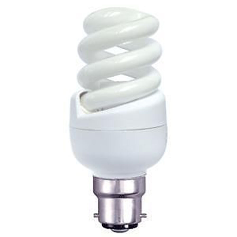 2 4 6 8 10 Or 12 New 9w Bc B22 Spiral Mini Low Energy Saving Light Bulb Lamp Ebay