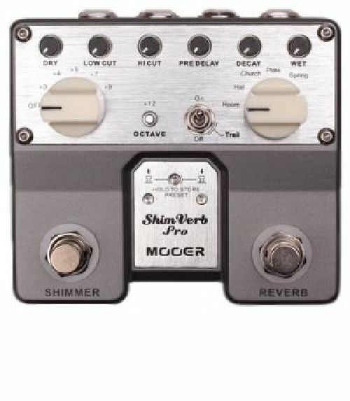 mooer audio shimverb pro reverb shimmer guitar or bass effect pedal brand new ebay. Black Bedroom Furniture Sets. Home Design Ideas