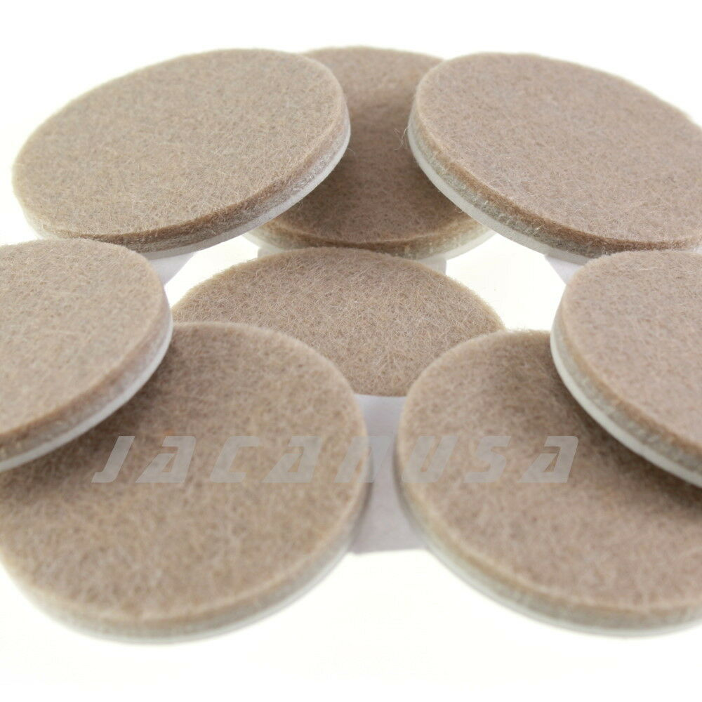 Self Adhesive Furniture Protector Round Felt Pads Floor Scratch Protection 16pc Ebay