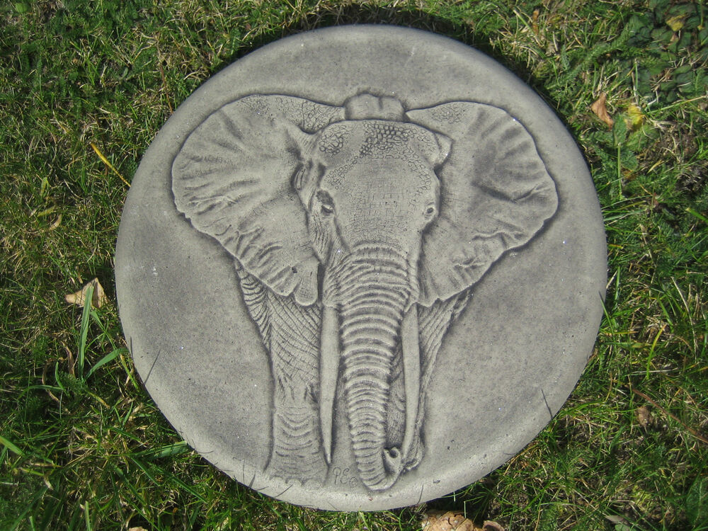 Elephant stepping stone garden ornament 57 other designs for Garden stepping stone designs