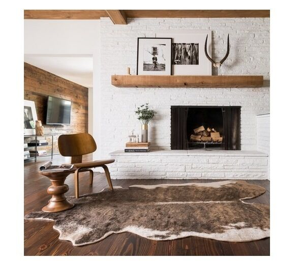 NEW Cowhide Beige Camel Tan Area Rug Faux Deer Rawhide