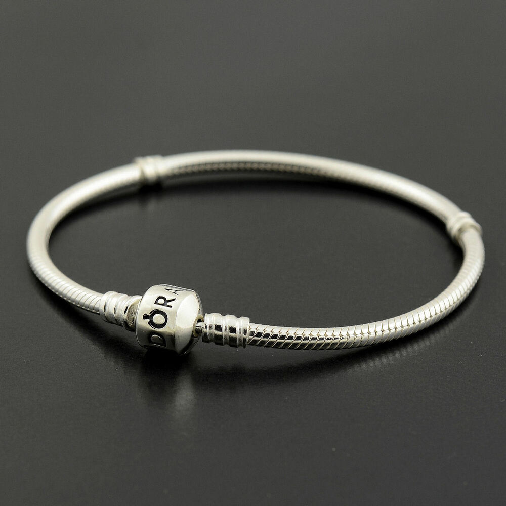 Authentic Genuine Pandora Silver Clasp Bracelet 17cm ...