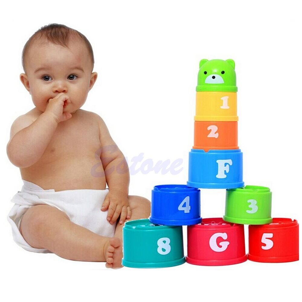 Kids Stacking Toys : Lot baby children kids educational toy figures letters