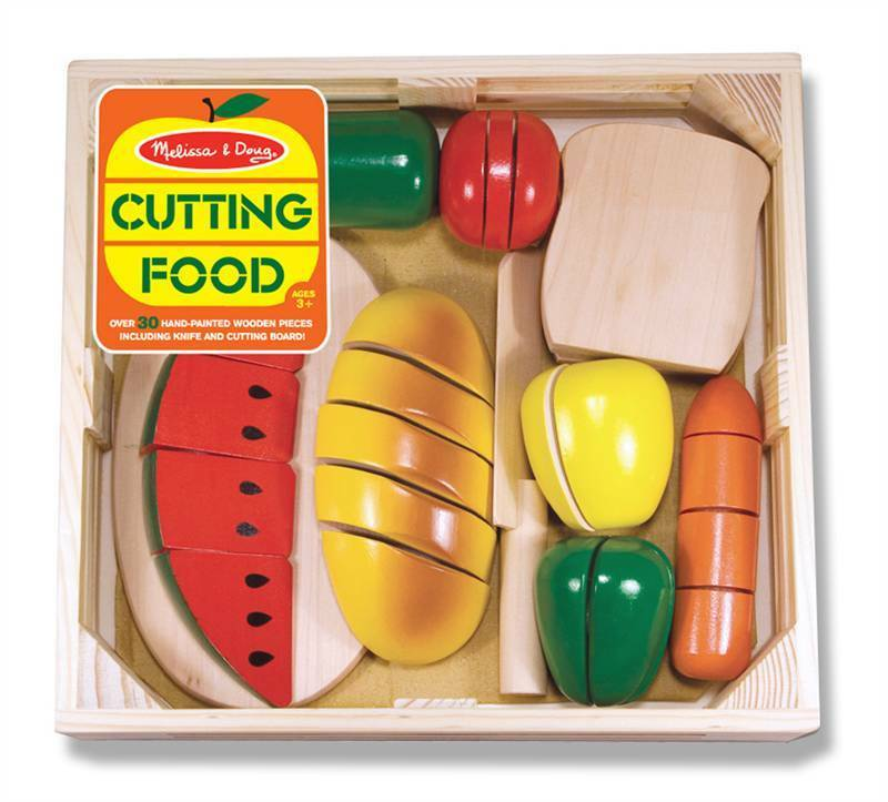 Realistic Play Food Toys : Melissa doug cutting food age wooden play role