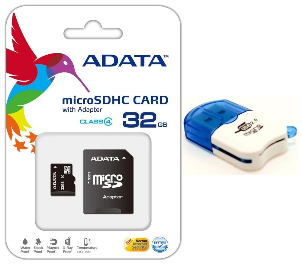 adata 32gb micro sd hc sdhc memory card class 4 for go pro hd hero 3 camcorder ebay