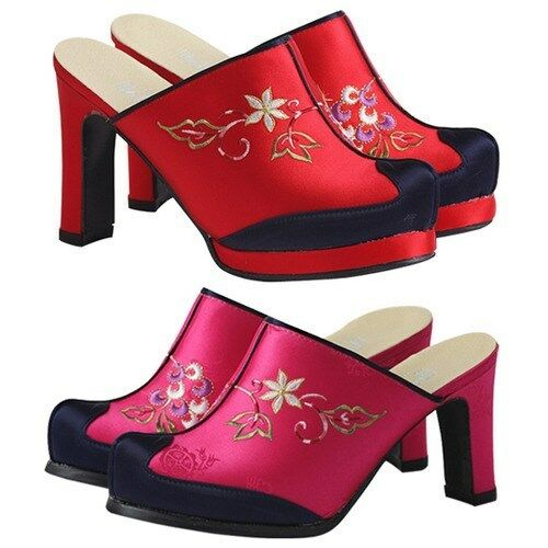 Hanbok shoes korean traditional women 9cm hill girl dress for What kind of shoes to wear with wedding dress