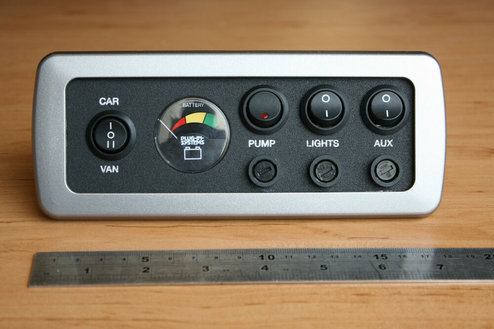 Battery Monitor Panel : Campervan control panel distribution cp c w battery