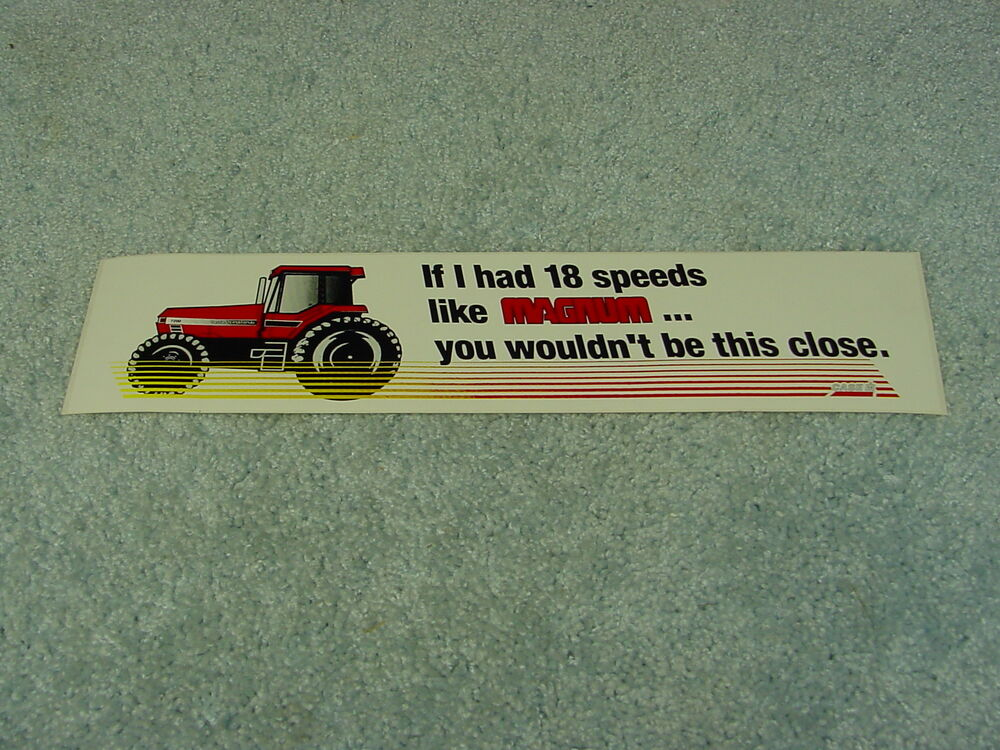 Case Tractor Stickers : Case ih international harvester magnum tractor bumper
