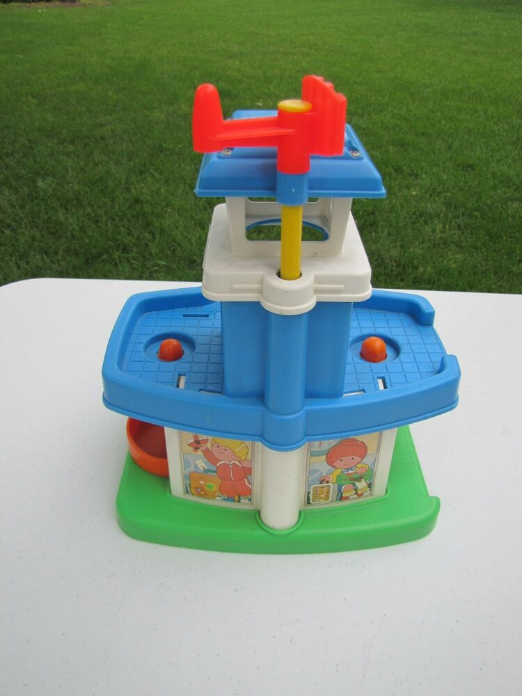 vintage fisher price little people airport for chunky
