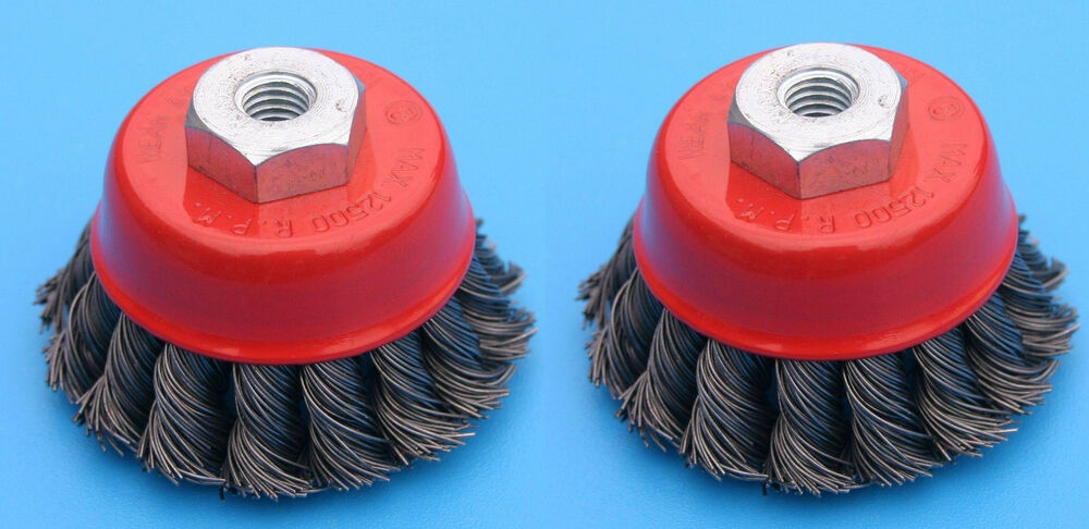 2 4 Quot Cup Knotted Wire Wheel Angle Grinder Brush Ebay