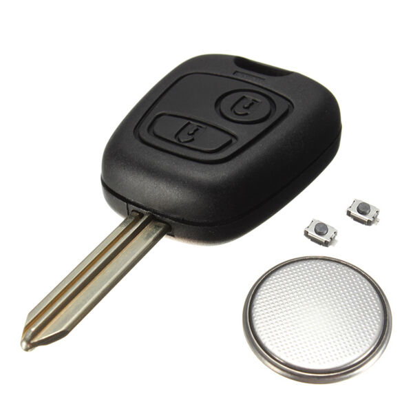 2 button remote key fob case for citroen saxo xsara picasso berlingo battery ebay. Black Bedroom Furniture Sets. Home Design Ideas