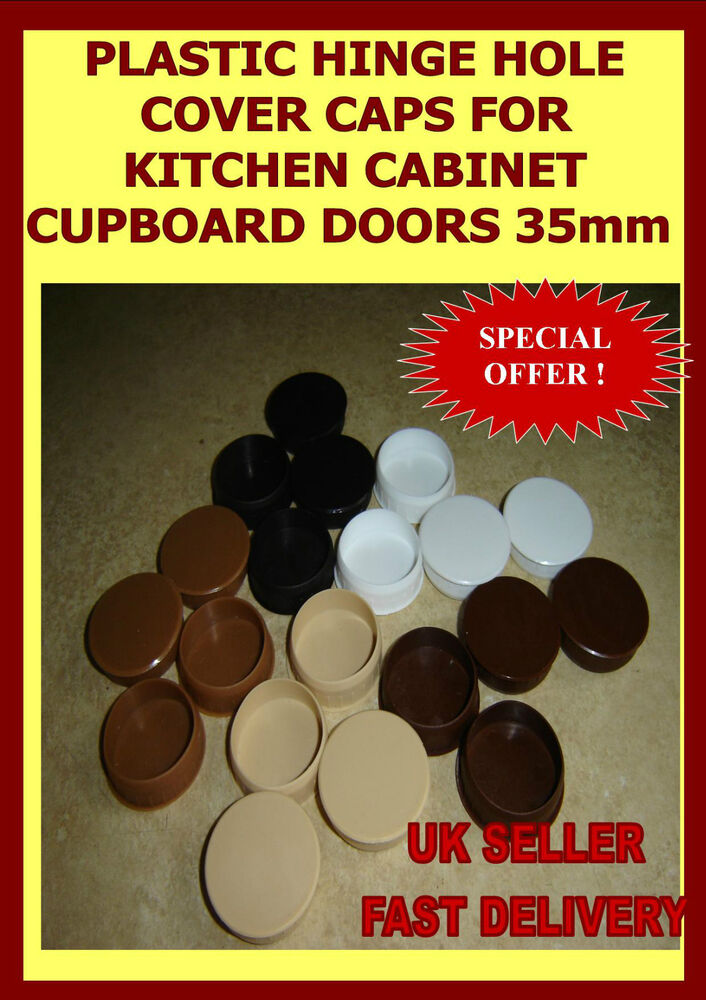 Plastic Hinge Hole Cover Caps For Kitchen Cabinet Cupboard