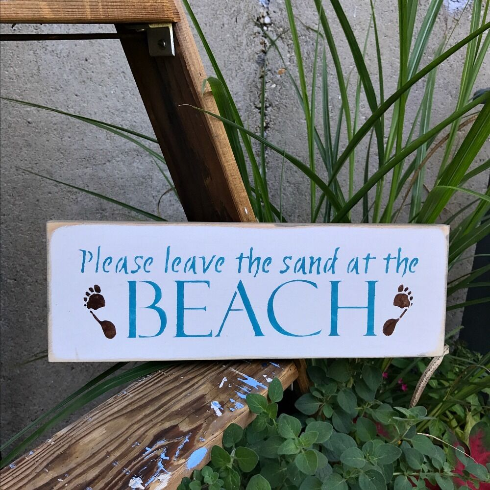 Beach House Decor, Beach Saying, Please Leave The Sand At