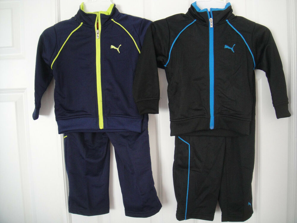 07b2493a7b2a Details about PUMA NWT Boys 2PC Tricot Track suit Jacket Top Pants Warm Up 2  2T 3 3T 4 4T